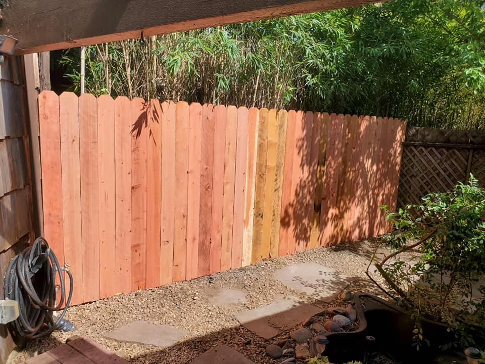 a newly installed fence