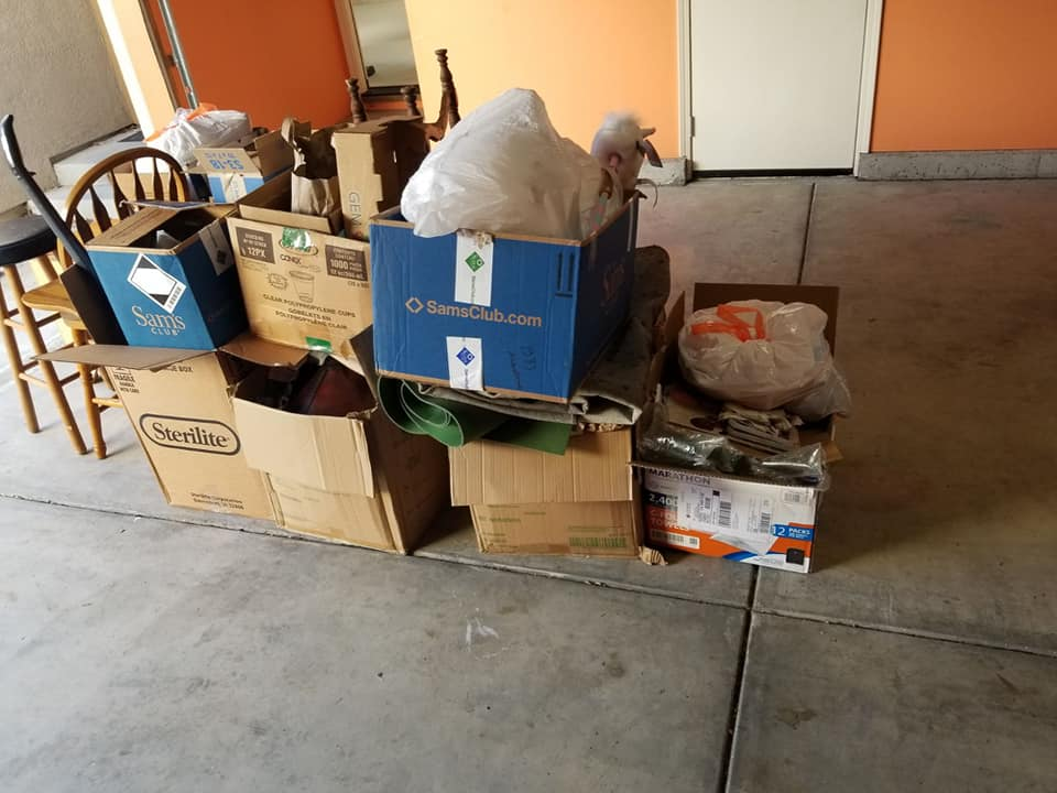 boxes full of junk